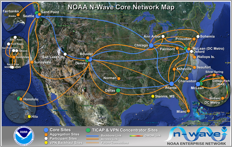 N-Wave Core Map